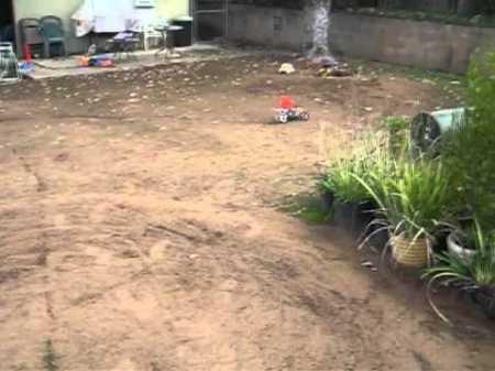 Duratrax DX450 on backyard track video