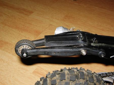 wheelie bar side view